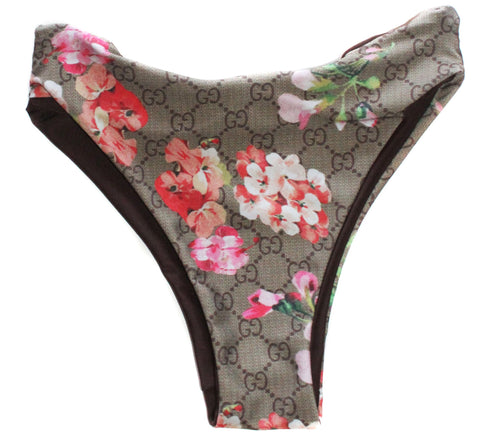 Floral Designer Seamless Swim High Waist Bottom - Feelin Peachy