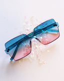 Ombre Big Framed Sunglasses - Feelin Peachy
