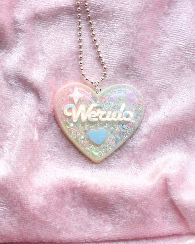 Rainbow Werdio Heart Pendant Necklace