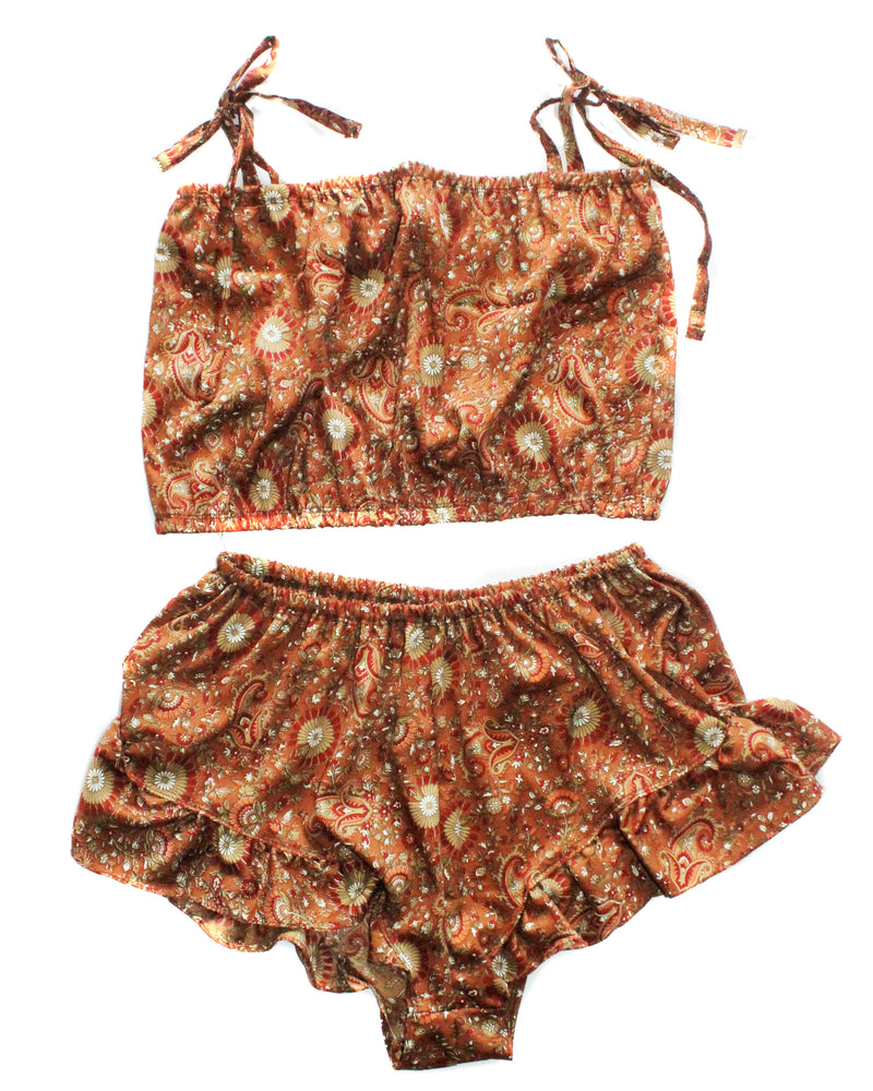 Zaya Brown Paisley Set