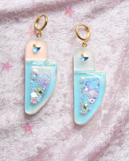 Kawaii Pastel Heart Squishy Purple Ice Cream Key Charm