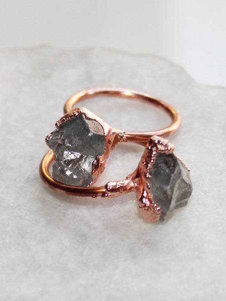 Raw Amethyst Copper Wrap Ring