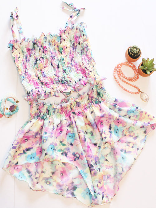 Lilly Rainbow Floral Set - Feelin Peachy