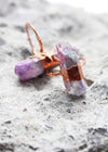 Lilac Aura Rainbow Electroformed Copper Statement Ring