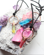 Aura Crystal Pointer Copper Pendant