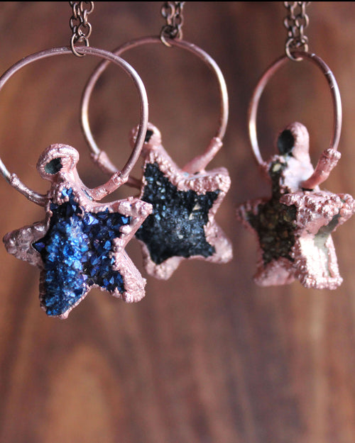 Star Druzy Copper Necklace