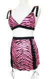 Hot Pink Zebra Sequin Bralette Top