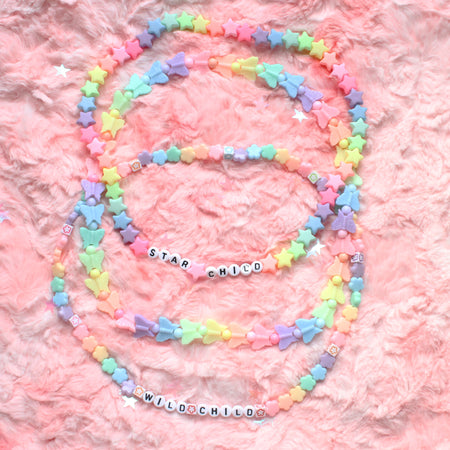 Clear Opal White Faux Holographic Snake  Choker Set Of 2