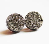 Simple Stud Druzy Earrings