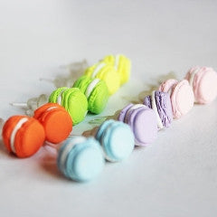 Miniature Food Pastel Macaroon Kawaii Stud Earrings - Feelin Peachy