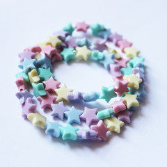 Kawaii Pastel Rainbow Star Bracelets - Feelin Peachy