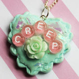 Pastel Creep Resin Heart Pendant