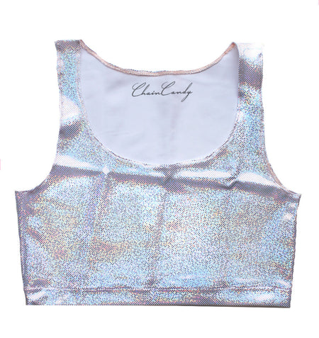 Maddison Low Cut Holographic Bodysuit