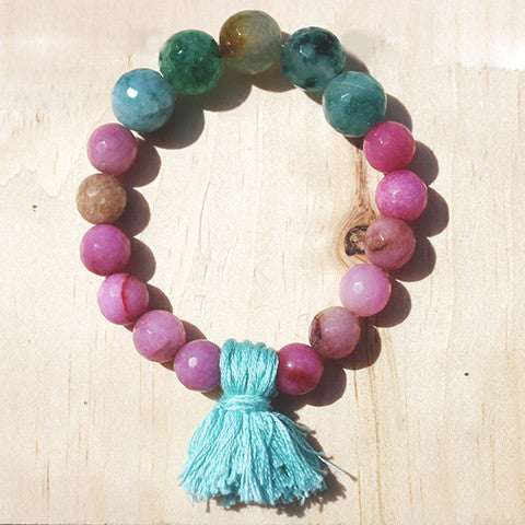 Jaden Beaded Gemstone Bracelet