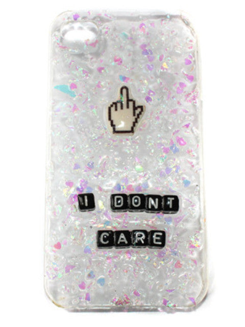I Don't Care Phone Case with Middle Finger Cursor- Lyssa's Miniatures - Feelin Peachy