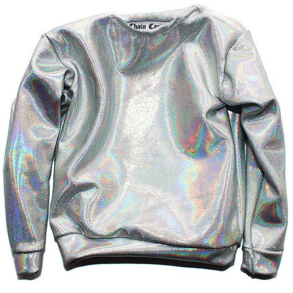 Holographic Long Sleeve Shirt - Feelin Peachy