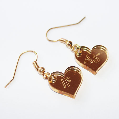 Gold AS IF Dangle Earrings