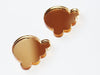 Gold Ice Cream Scoop Stud Earrings