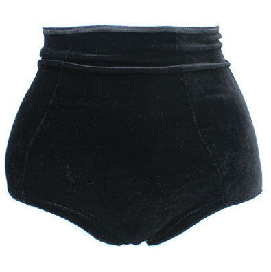 Black Velvet High Waisted Panties - Feelin Peachy