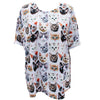 Kitten Print Oversized T-Shirt - Feelin Peachy