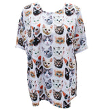 Kitten Print Oversized T-Shirt
