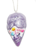 Melting Sprinkles Glitter Ice Cream Pendant Necklace