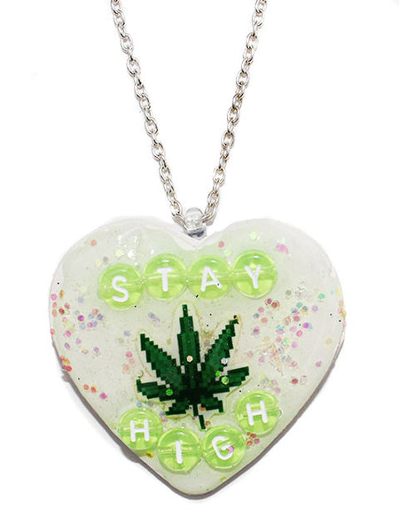 Stay High Heart Pendant Necklace