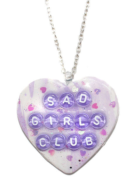 Sad Girls Club Heart Pendant Necklace