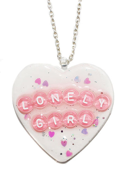 Lonely Girl Heart Pendant Necklace - Feelin Peachy