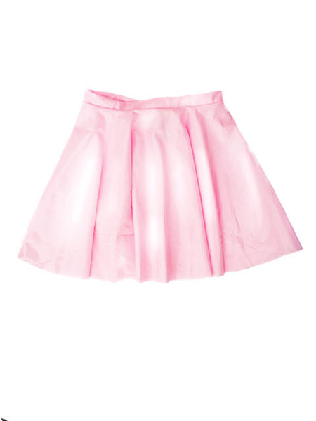 Latex Bubblegum Pink High Waisted Circle Skirt