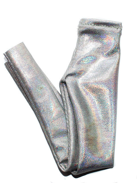 Holographic Silver High Waisted Leggings - Feelin Peachy