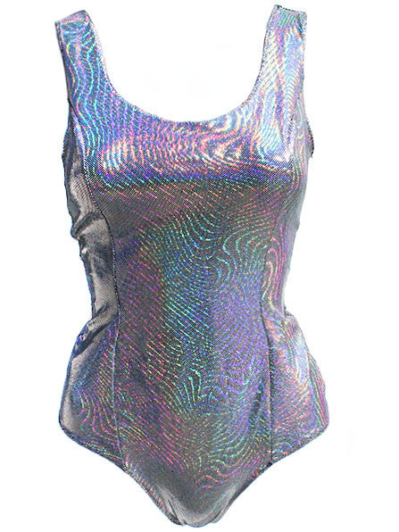 Holographic Wave One Piece Swimsuit - Feelin Peachy