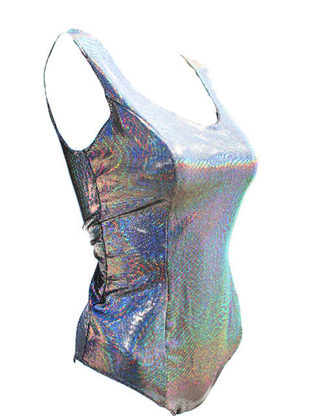 Holographic Wave One Piece Swimsuit