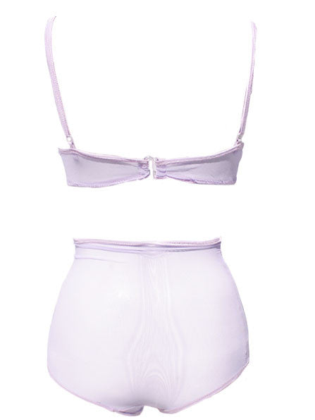 Pastel Mesh Bra & Panties- More Colors