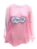 CREEP Sequined Japanese Oversized Sweater- Pink - Feelin Peachy
