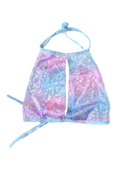 Rainbow Hologram Garter Tank Top