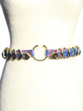 Siena Snake Holographic Belt Harness - Purple