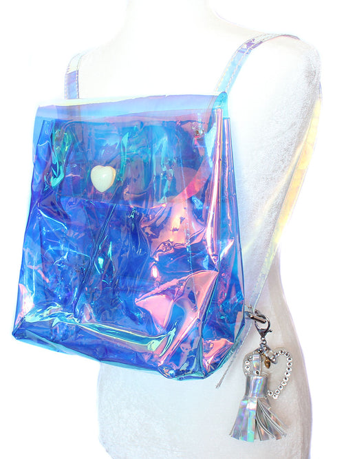 Isabel Opal Holographic Backpack - Feelin Peachy