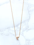 Gold Dainty Crescent Moon Charm Collar Necklace - Feelin Peachy
