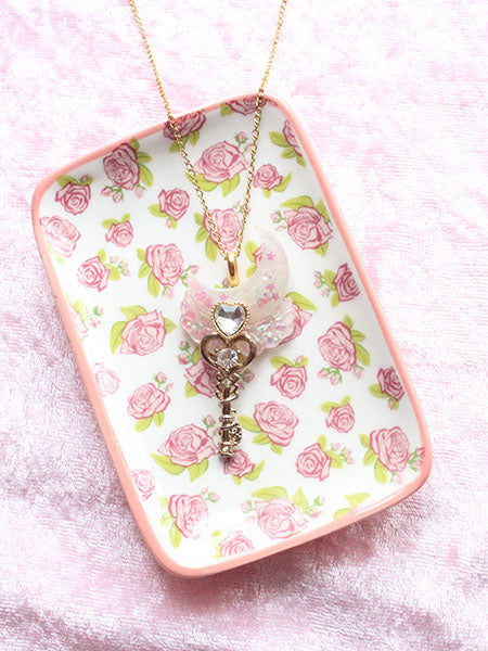 Kawaii Pastel Moon Key Wand Necklace - Feelin Peachy