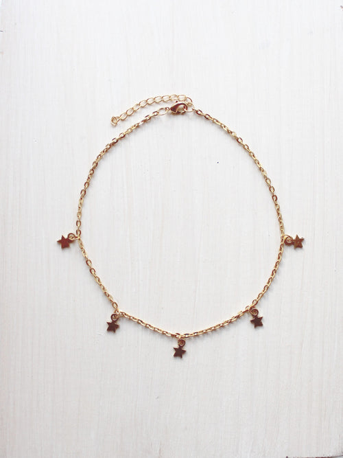 Shoot For The Stars Gold Choker Necklace