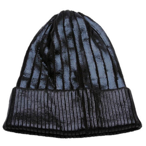Black Foiled Metallic Knit Beanie Hat - Feelin Peachy