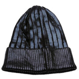 Black Foiled Metallic Knit Beanie Hat