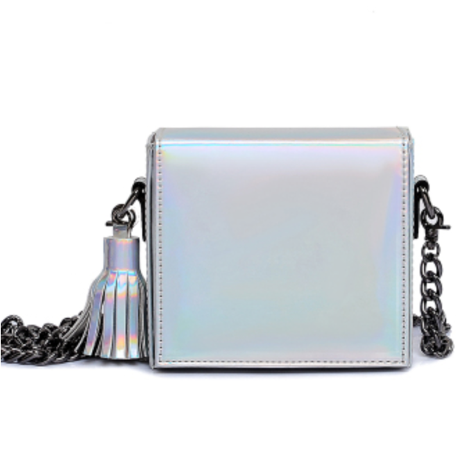 Lora Holographic Shoulder Bag - Feelin Peachy