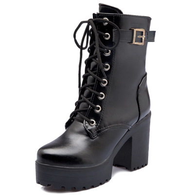 Veronica Lace up Vegan Leather Boots