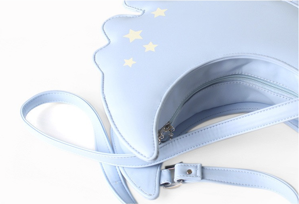 Dripping Pastel Moon Crossbody Bag