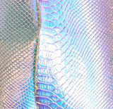 Renee Snakeskin Holographic Skirt Jumpsuit