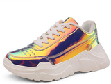 Dark Holographric Sneakers - Feelin Peachy