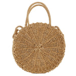 Dirra Round Straw Shoulder Bag - Feelin Peachy