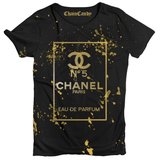 Splatter Fashion Designer Perfume T shirt